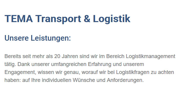 Logistikmanagement in  Deilingen