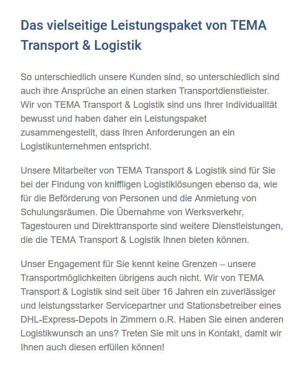 Transportdienstleister aus 78601 Mahlstetten